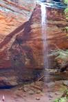 The falls at Ash Cave.