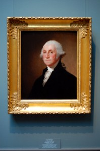 One of the most famous paintings of Washington. I took this one at Smithsonian Art Museum.