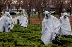 Detail of Korean War Memorial.